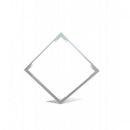 LUCIPLEX TK-PF600 MARCO PARA INSTALACIÓN EN SUPERFICIE DE PANELES LED 600X600 ACABADO BLANCO MATE SIN AGUJEROS VISIBLES