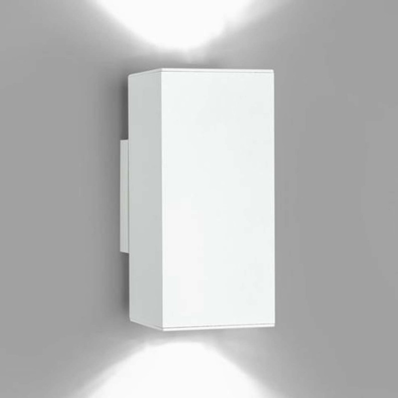 2 Luces Doble Blanco Milan De Pared 3117 Aplique Dau En Aluminio kXPZiu