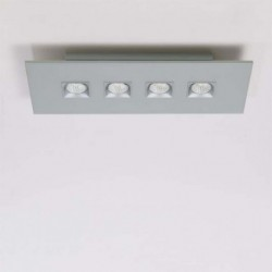 MILAN 4034 PLAFON RECTANGULAR POLIFEMO EN COLOR BLANCO DE 4 LUCES
