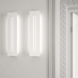 MILAN 4993 APLIQUE DE PARED FINESTRA EN COLOR BLANCO 2x54W