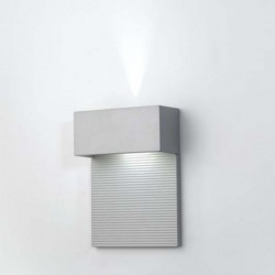 APLIQUE GRIS MET.LED 2x4W.