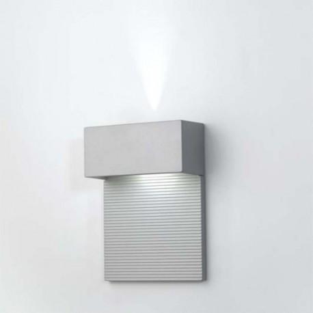 APLIQUE GRIS MET.LED 2x4W.