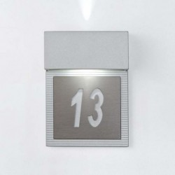 APLIQUE GRIS  VARON LED 2x4W.