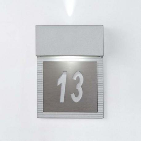 APLIQUE GRIS  HOTEL LED 2x4W.