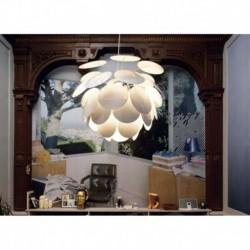 LAMPARA COLGANTE DISCOCO 68 EN COLOR BLANCO CON CABLE DE 5M 3x E27 23W