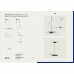 LAMPARA COLGANTE MEDIANA DIMABLE EN COLOR WENGUE 63 LED SMD 16,2W 700mA 2700K 1480lm