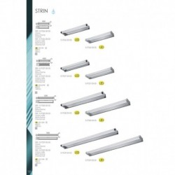 MDC 5-7027-30-03 APLIQUE DE PARED STRIN EN ACABADO CROMO BRILLO LED 2 *  7W 1400lm 4000K