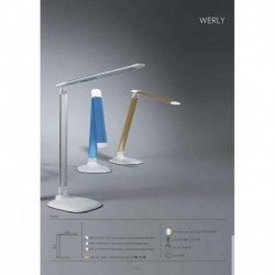 MDC 5-7098-12-21 LAMPARA DE SOBREMESA WERLY DE COLOR DORADO Y BLANCO LED 6W 340lm 3300-5500K