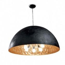 LAMPARA COLGANTE EN COLOR NEGRO/ORO 5xE27 40W