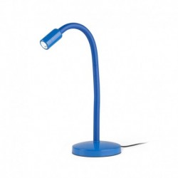 LAMPARA DE SOBREMESA EN COLOR AZUL LED 3W 3000K
