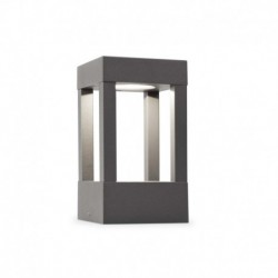 AGRA LED Lámpara baliza gris oscuro luz cálida h.200mm