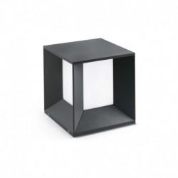 MILA LED Lámpara sobremuro gris oscuro