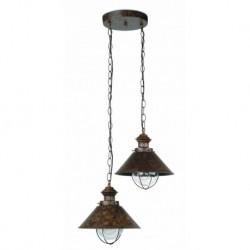 NÁUTICA Lámpara colgante marrón óxido 2L h.1015mm