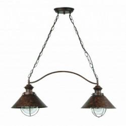 NÁUTICA Lámpara colgante marrón óxido 2L h.760mm