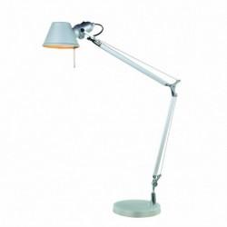 LAMPARA DE SOBREMESA DE COLOR GRIS E27