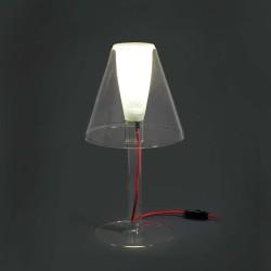 Lámpara sobremesa MINI BURAN vidrio pirex 1xg9