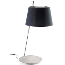 Lámpara sobremesa TANGO niquel satinado pantalla negra