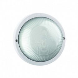 APLIQUE DE PARED DE COLOR BLANCO E27 LED 10W IP44