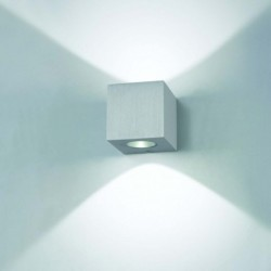 APLIQUE DE PARED/TECHO EN ALUMINIO CEPILLADO  PoWerLed 1X3W