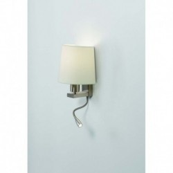 APLIQUE DE PARED EN COLOR NIGUEL E27 23W+LED 3W 2int.
