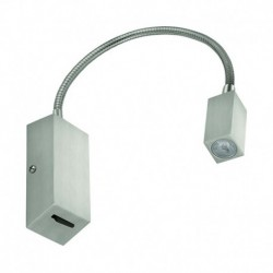 APLIQUE DE PARED EN ACABADO NIQUEL IP20 LED 1*3W 240lm 3000K