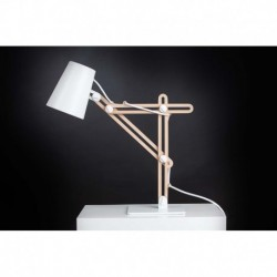 LAMPARA DE SOBREMESA DE  1 LUZ GRANDE - MADERA