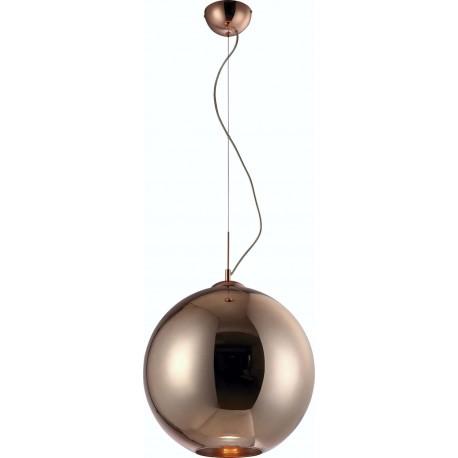 LAMPARA COLGANTE DE BOLA DE 1 LUZ COLOR BRONCE GRANDE