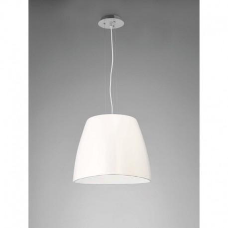 LAMPARA COLGANTE GRANDE BLANCA DE 1 LUZ